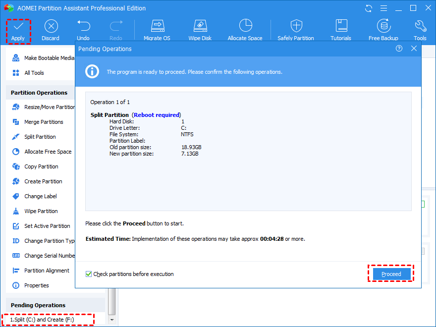 How to Partition C Drive without Formatting in Windows 10/8/7?