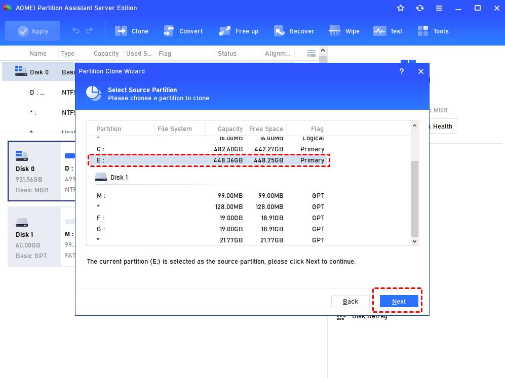 Select Source Partition
