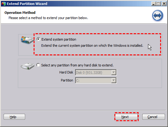 Extend System Partition