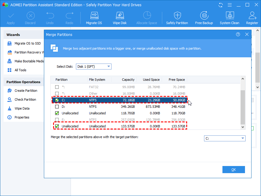 Tick Another Unallocated Partition