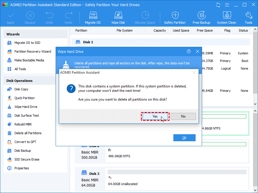How to Wipe HDD/SSD from BIOS?