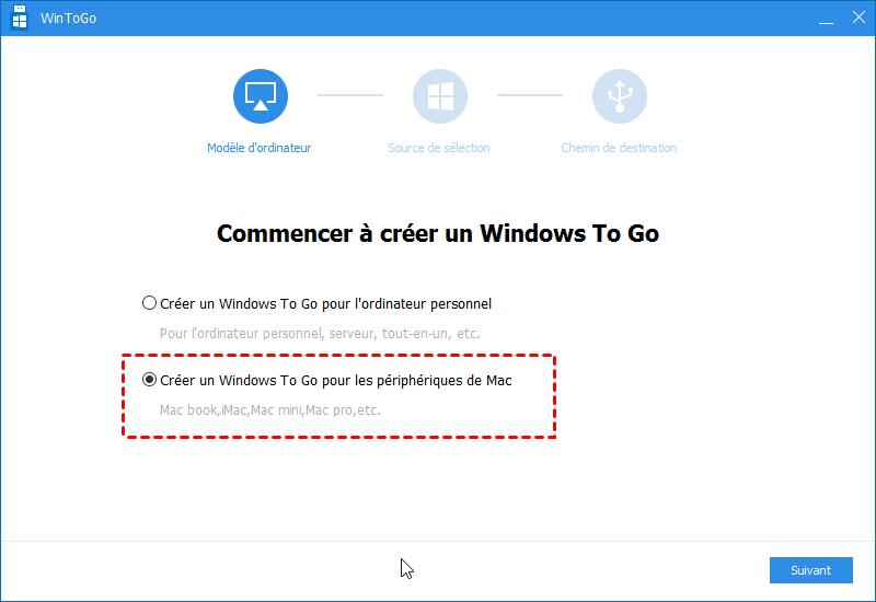 Créer un Windows To Go pour Mac