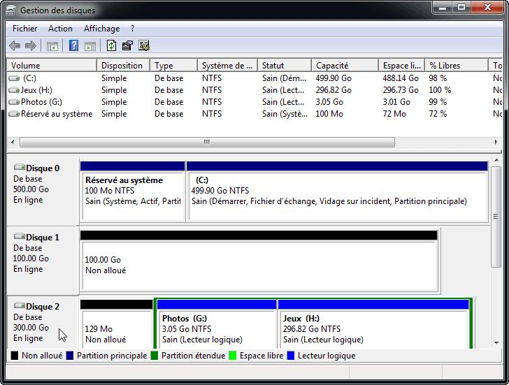 Disque 2 devient disque de base