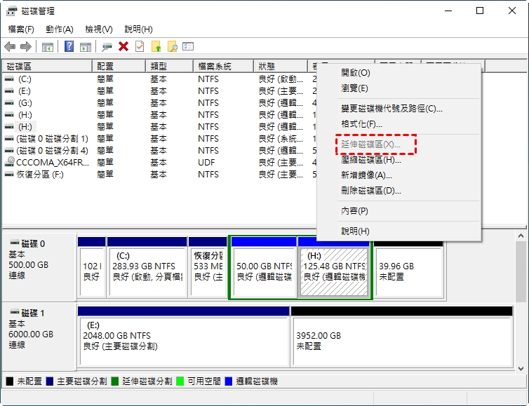 Extend Partition Gray