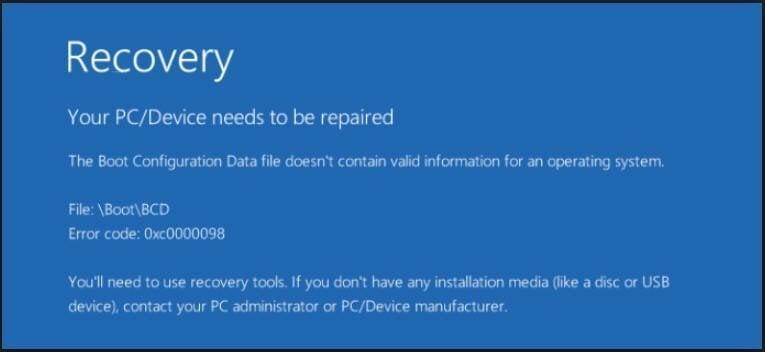 Windows錯誤信息