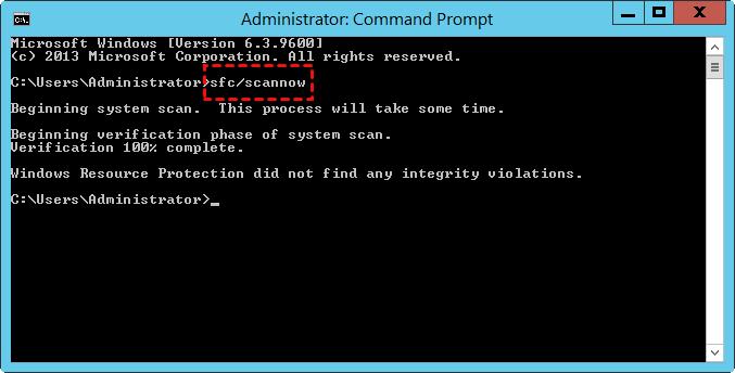 Sfc Scannow Server 2012