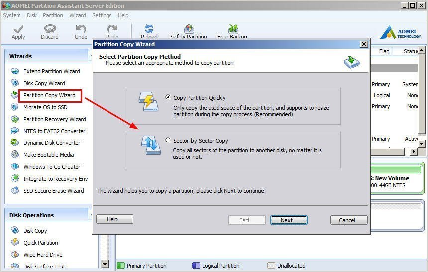 Partition Copy Wizard