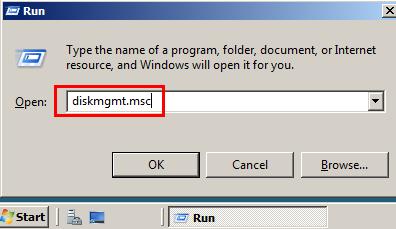 Disk management Windows Server 2008 3
