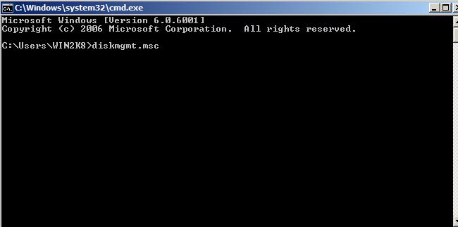 Disk management Windows Server 2008 4