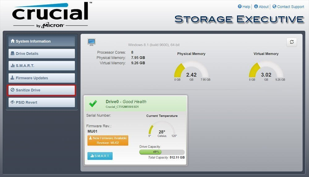 5 Steps to Secure Erase Crucial SSD with Freeware