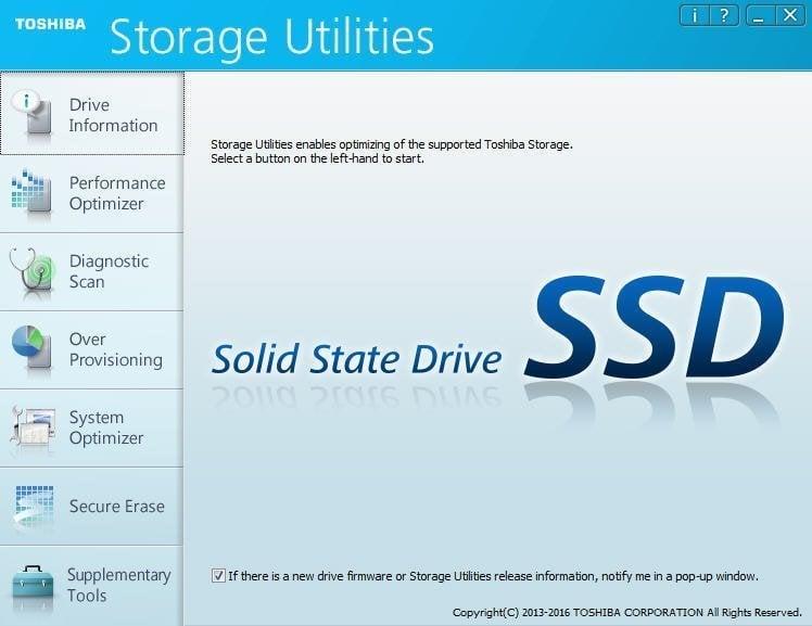 Toshiba Storage Utilities