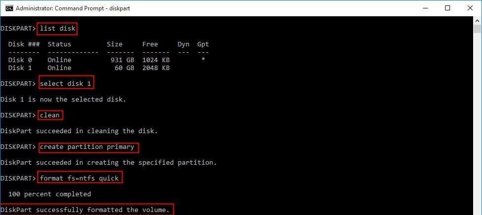 Convert RAW to NTFS Using CMD