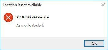 Pen Drive Access Denied