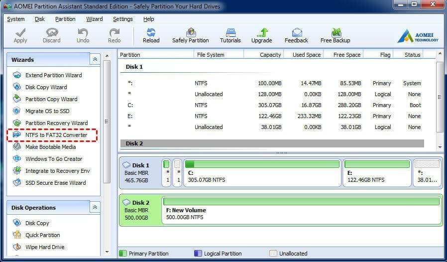 convert ntfs to fat32 without losing data easeus