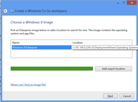 Choose a Windows 8 Image