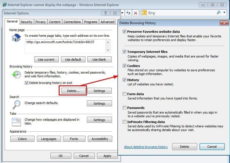 Delete Internet Temporary Files