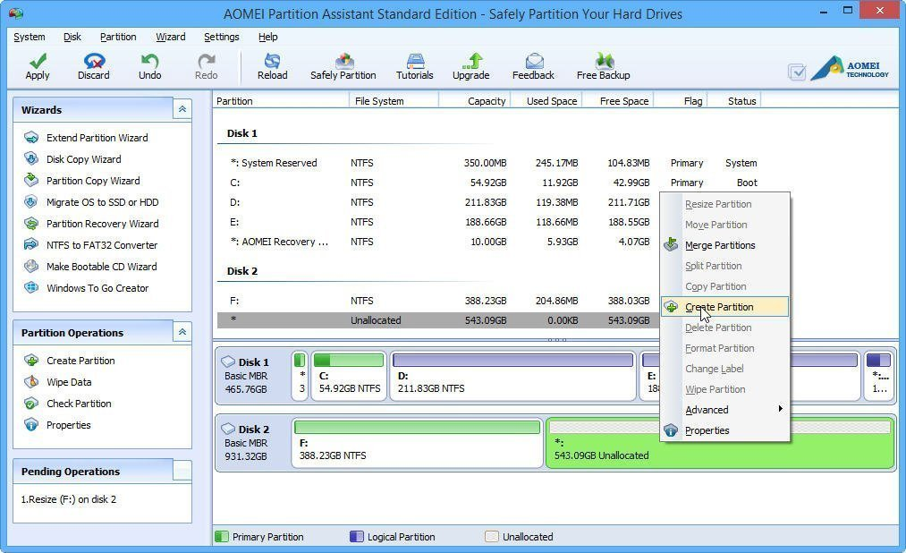 Safely create partition for windows 10 with free software for New windows software