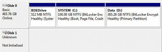how to fix disk 1 unknown not initialized