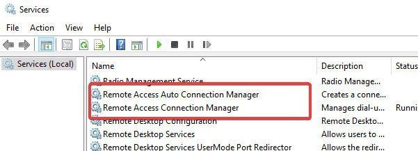 Remote Access Connection Manager