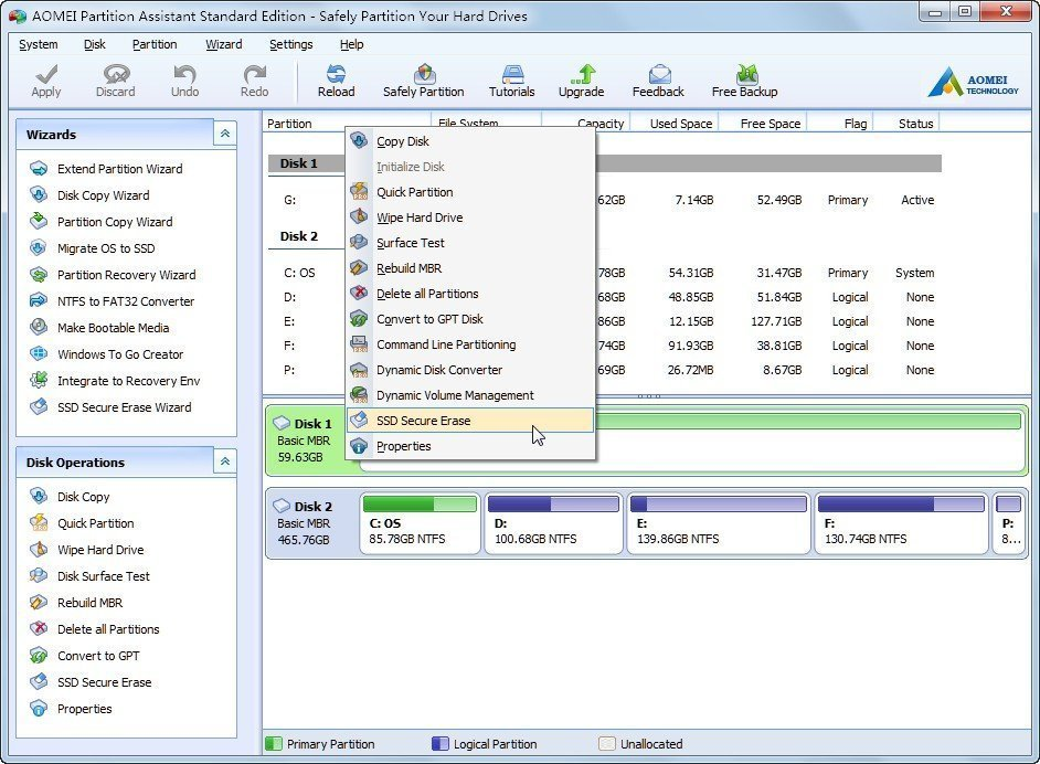 SSD Secure Erase