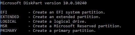Create Partition Type