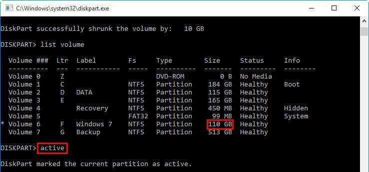 how to delete an active partition in windows 10