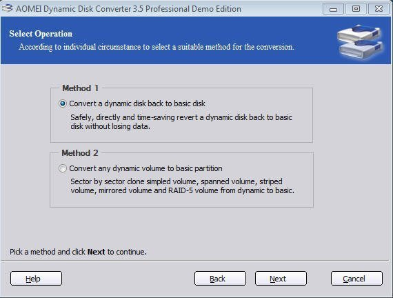 aomei dynamic disk converter professional edition