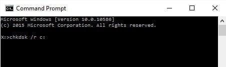 Chkdsk Command Windows 10