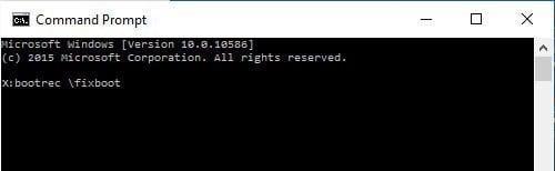 Fix Boot Record Windows 10