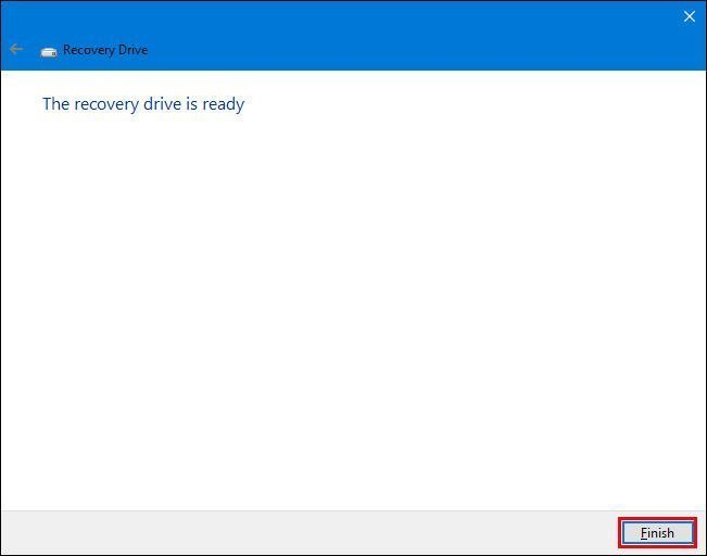 How to create a reboot disk for windows 10
