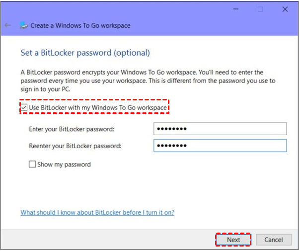 Enable BitLocker Drive Encryption