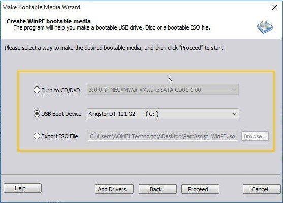 WinPE Bootable Media