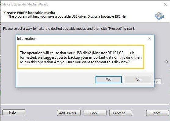 Format USB Notice