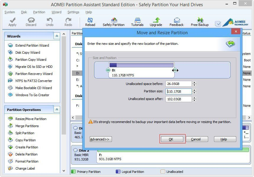 How to enlarge a space how to resize vm disks in hyper v for Window resize