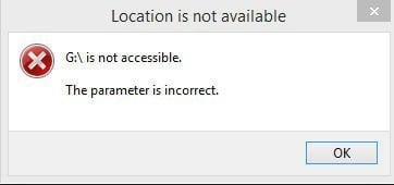 The Parameter Is Incorrect in Windows 10 \u2013 How to Fix?