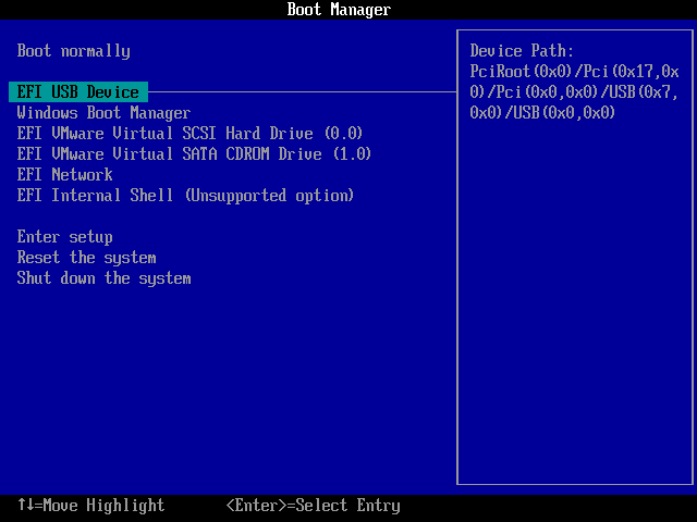 BIOS Boot from USB