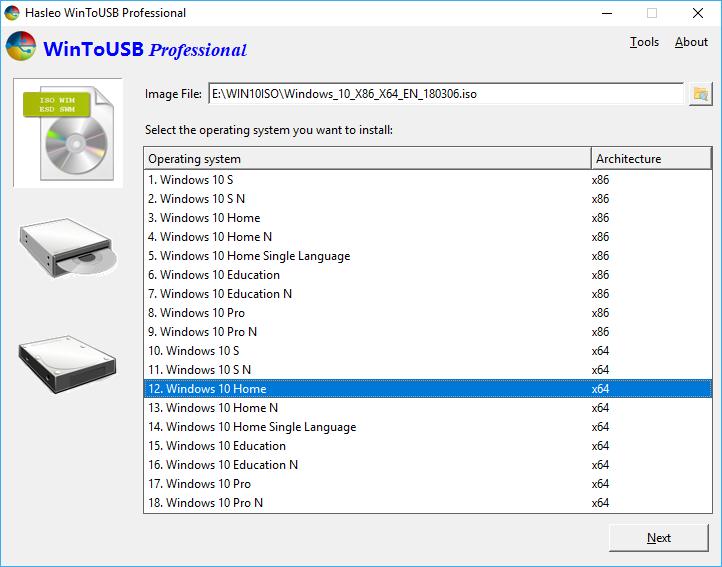 Select Windows Edition
