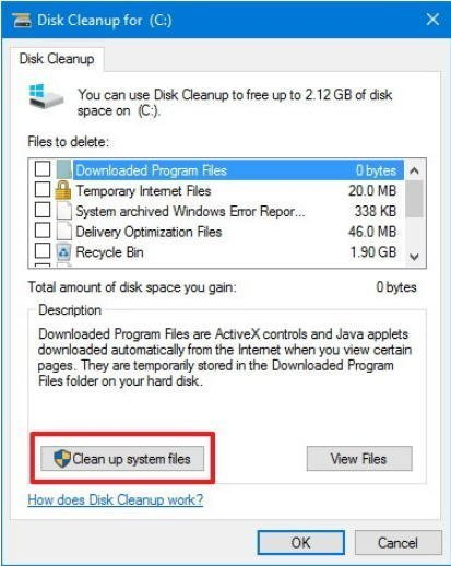 Windows server 2012: enabling disk cleanup utility technet.