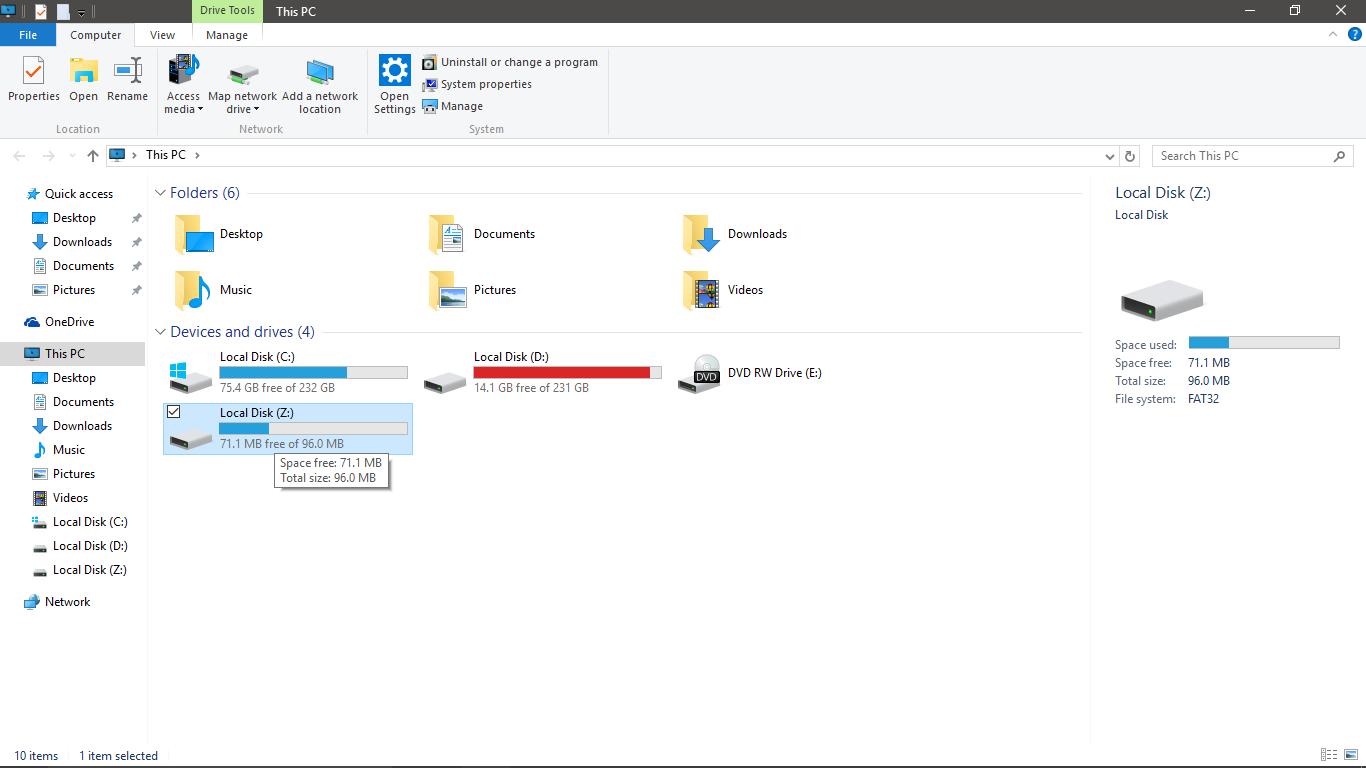 windows 10 remove network drive