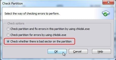 Select Check Option