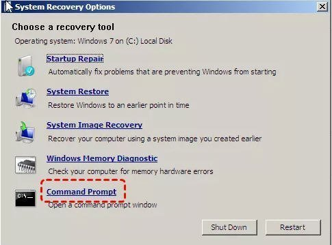 CMD Windows7