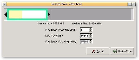 Partition Resize