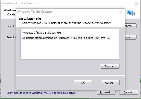 Select Windows 7 Installation File