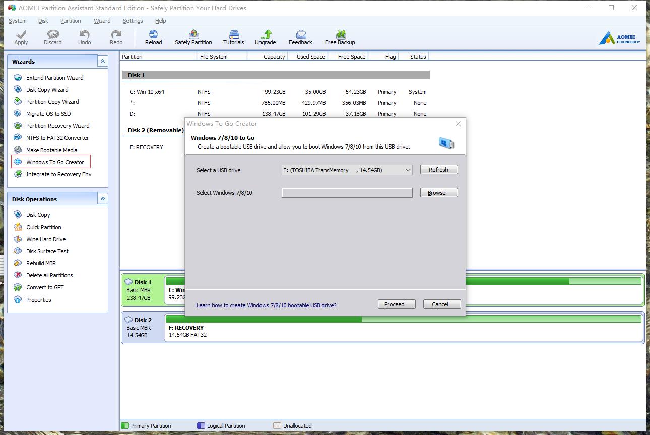 Install Windows 7 on USB Flash Drive or External Hard Drive