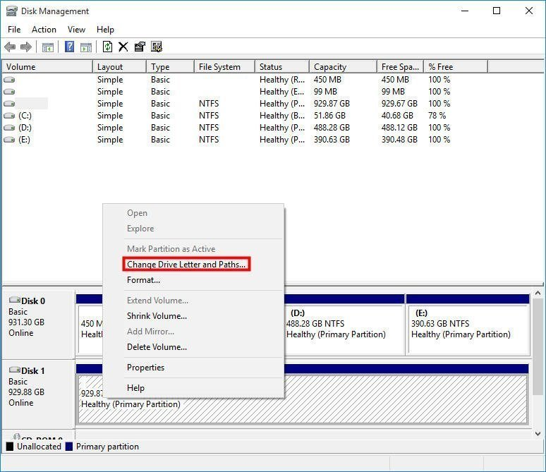 Assign Drive Letter to Solve Partition not Showing