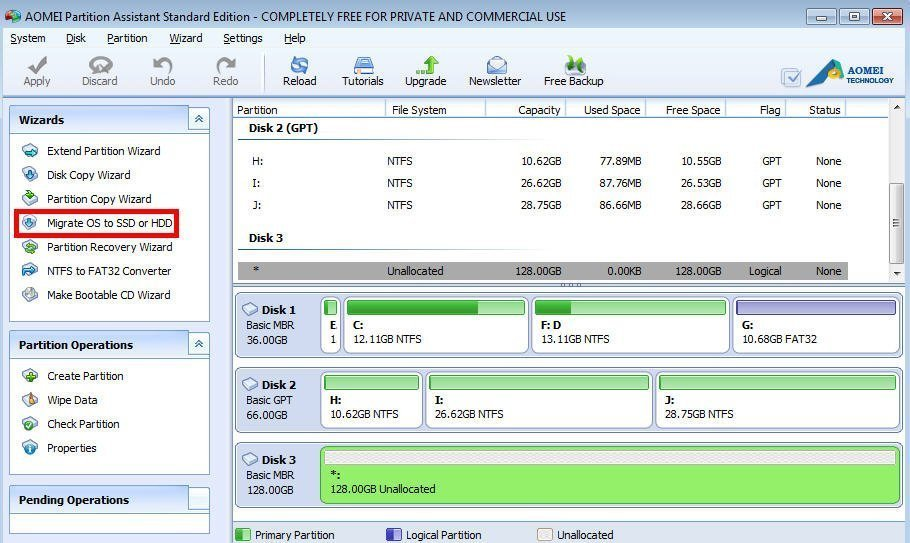 Move Windows 8 to SSD with Partition Manager Freeware